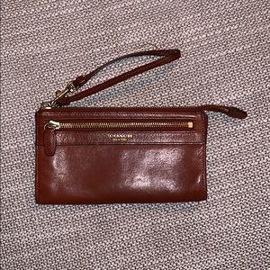 Coach Brown Leather Wallet / Wristlet